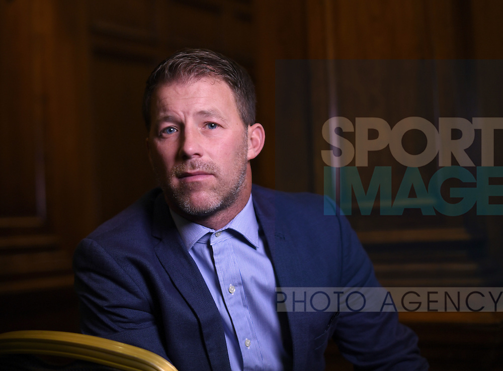 Former professional football player Steve Walters at the launch of the Offside Trust at the Midland Hotel in Manchester. The Offside Trust has been formed as an independent trust to support players and their families who have suffered from abuse. Picture date: December 5th, 2016. Pic Simon Bellis/Sportimage