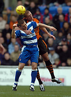 Fotball<br /> England 2004/2005<br /> Foto: SBI/Digitalsport<br /> NORWAY ONLY<br /> 22.01.2005<br /> <br /> Reading v Ipswich Town Coca-Cola Championship.<br /> Nicky Forster of Reading heads the ball.