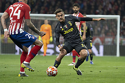February 21, 2019 - Madrid, Madrid, Spain - Paulo Dybala of Juventus  during UEFA Champions League round of 16 soccer match between Atletico Madrid and Juventus at Wanda Metropolitano Stadium in Madrid, Spain on February 20, 2019 Photo: Oscar Gonzalez/NurPhoto  (Credit Image: © Oscar Gonzalez/NurPhoto via ZUMA Press)