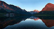 Early morning on Swiftcurrent Lake, Glacier National Park.