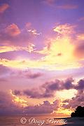 sunset at Bikini Atoll, Marshall Islands, Micronesia ( Central Pacific Ocean )