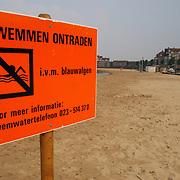 Zwemmen verboden strand Zomerkade Huizen ivm blauwalg