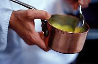Pierre Gagnaire making a sauce sabayon