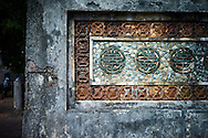 Weathered wall in Tu Duc Tomb, Hue, Vietnam, Southeast Asia