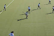 """Saturday September 16th 2007. Vaucresson (Hauts de Seine),France..The Japonese field hockey team warms up before an exhibition game against """"Le Stade Francais""""."""