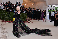 Rita Ora walking the red carpet at The Metropolitan Museum of Art Costume Institute Benefit celebrating the opening of Heavenly Bodies : Fashion and the Catholic Imagination held at The Metropolitan Museum of Art  in New York, NY, on May 7, 2018. (Photo by Anthony Behar/Sipa USA)