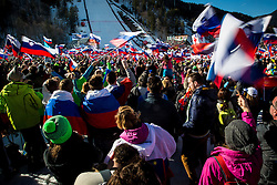 Fans during the Ski Flying Hill Individual Competition at Day 2 of FIS Ski Jumping World Cup Final 2016, on March 18, 2016 in Planica, Slovenia. Photo by Grega Valancic / Sportida