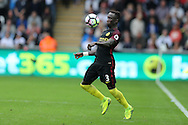 Bacary Sagna of Manchester city in action. Premier league match, Swansea city v Manchester city at the Liberty Stadium in Swansea, South Wales on Saturday 24th September 2016.<br /> pic by Andrew Orchard, Andrew Orchard sports photography.