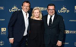 May 13, 2018 - Paris, France - Jean Luc Reichmann - Didier Quillot ( Directeur General Executif de la LFP ) - Nathalie Boy De La Tour  (Credit Image: © Panoramic via ZUMA Press)