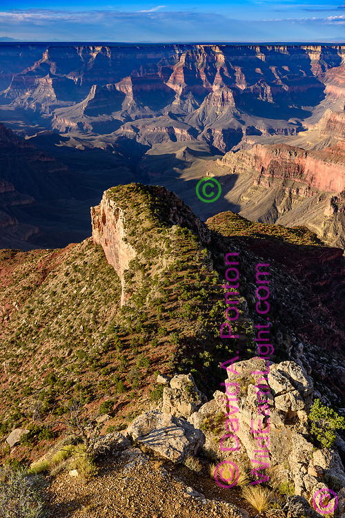 Low ridge extends toward the inner canyon from Point Sublime, Grand Canyon National Park, © David A. Ponton