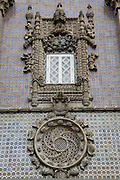 Tomar Convent of Christ's window reproduction in the northern facade of the Pena National Palace, Sintra, Portugal. PHOTO PAULO CUNHA/4SEE