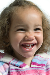 Little girl laughing,