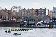 """Putney, Great Britain, 24th March 2019, Pre Boat Race Fixture, Goldie, Cambridge University """"Reserves"""", Boat Club vs Oxford Brookes University, Championship Course, River Thames,   England, [Mandatory Credit; Peter Spurrier/Intersport-images],"""