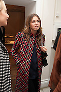 DASHA ZHUKOVA, Opening of Morris Lewis: Cyprien Gaillard. From Wings to Fins, Sprüth Magers London Grafton St. London. Afterwards dinner at Simpson's-in-the-Strand hosted by Monika Spruth and Philomene Magers.