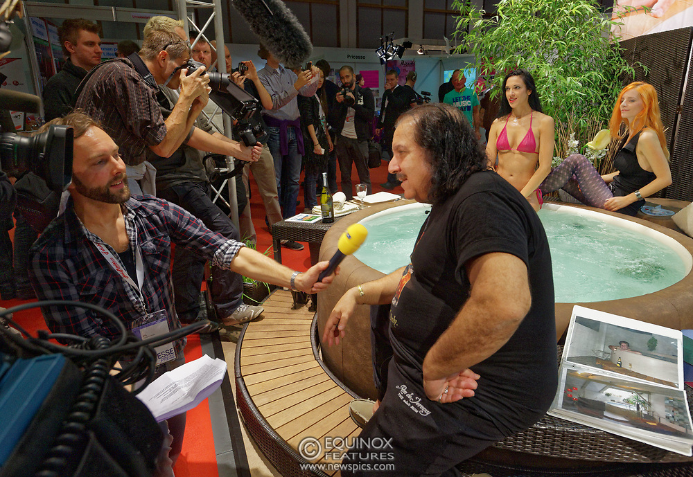 Berlin, Germany - 18 October 2012<br /> Porn star Ron Jeremy promoting his 'Ron Jeremy' brand of rum at the Venus Berlin 2012 adult industry exhibition in Berlin, Germany. Ron Jeremy, born Ronald Jeremy Hyatt, has been an American pornographic actor since 1979. He faces sexual assault allegations which he strenuously denies. There is no suggestion that any of the people in these pictures have made any such allegations.<br /> www.newspics.com/#!/contact<br /> (photo by: EQUINOXFEATURES.COM)<br /> Picture Data:<br /> Photographer: Equinox Features<br /> Copyright: ©2012 Equinox Licensing Ltd. +448700 780000<br /> Contact: Equinox Features<br /> Date Taken: 20121018<br /> Time Taken: 12191555