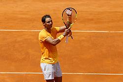 May 18, 2018 - Rome, Italy - Rafael Nadal (SPA) celebrates at Foro Italico in Rome, Italy on May 18, 2018 during Tennis ATP Internazionali d'Italia BNL quarter-finals. (Credit Image: © Matteo Ciambelli/NurPhoto via ZUMA Press)