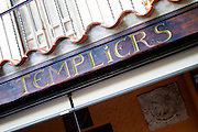 Sign at the legendary Templier hotel and restaurant. Collioure. Roussillon. France. Europe.