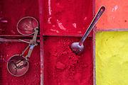 Nepal, Hindu Tika powder for sale in boxes