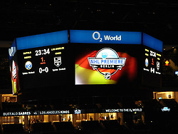 08.10.2011, O2 World, Berlin, Linz, GER, NHL, Buffalo Sabres vs LA Kings, im Bild the Viedeowall at the o2 Arena, during the Compuware NHL Premiere, O2 World Berlin, Berlin, Germany, 2011-10-08, EXPA Pictures © 2011, PhotoCredit: EXPA/ Reinhard Eisenbauer