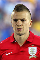 Football Fifa Brazil 2014 World Cup Matchs-Qualifier / Group H /<br /> San Marino vs England  0-8  ( Olympic Stadium - Serravalle , Republic of San Marino )<br /> Tom CLEVERLEY of England ,  during the match between San Marino and England