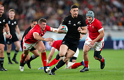 New Zealand's Sonny Bill Williams in action during the 2019 Rugby World Cup bronze final match at Tokyo Stadium.