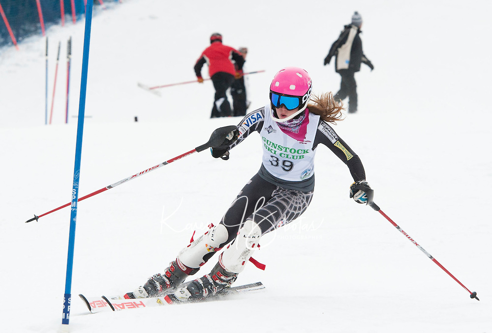 Cliff Nyquist Memorial Slalom at Gunstock J2, J1 February 21,  2012.