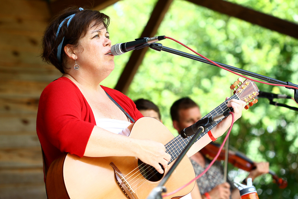 Julie Lee performs at the Wild Goose Festival at Shakori Hills in North Carolina June 24, 2011.  (Photo by Courtney Perry)