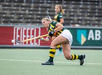 AMSTELVEEN - Tessa Clasener (HDM)  tijdens de competitie hoofdklasse hockeywedstrijd dames, Amsterdam-HDM (1-1).  COPYRIGHT KOEN SUYK
