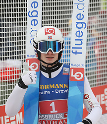 04.01.2020, Bergiselschanze, Innsbruck, AUT, FIS Weltcup Skisprung, Vierschanzentournee, Innsbruck, Wertungsdurchgang, im Bild Marius Lindvik ffreut sich über seinen 2. Sieg bei der Vierschanzen Tournee // during his Competition Jump for the Four Hills Tournament of FIS Ski Jumping World Cup at Bergiselschanze in Innsbruck, Austria on 2020/01/04. EXPA Pictures © 2020, PhotoCredit: EXPA/ SM<br /> <br /> *****ATTENTION - OUT of GER*****