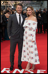 April 9, 2018 - London, London, United Kingdom - Image licensed to i-Images Picture Agency. 09/04/2018. London, United Kingdom. Glen Powell and Lily James arriving at The Guernsey Literary and Potato Peel Pie Society premiere in London. (Credit Image: © Stephen Lock/i-Images via ZUMA Press)
