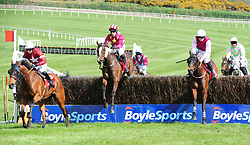 Heron Height's ridden by Robbie Power (second left) win the Palmerstown House Pat Taaffe Handicap Chase during day five of the Punchestown Festival 2018 at Punchestown Racecourse, County Kildare.