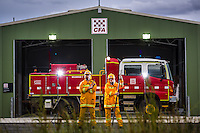 15/11/12 WEST SUN/MACE 32410 Wildwood CFA are opening their new fire station. the old one was over 30 years old and needed replacing. The CFA is the heart of the town,.Lieutenant Joel Xuereb (left) & Secretary Lisa Varrasso..Pic By Craig Sillitoe This photograph can be used for non commercial uses with attribution. Credit: Craig Sillitoe Photography / http://www.csillitoe.com<br /> <br /> It is protected under the Creative Commons Attribution-NonCommercial-ShareAlike 4.0 International License. To view a copy of this license, visit http://creativecommons.org/licenses/by-nc-sa/4.0/.