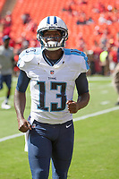 September 7, 2014: Tennessee Titans wide receiver Kendall Wright (13) during the NFL American Football Herren USA game between the Tennessee Titans and the Kansas City Chiefs at Arrowhead Stadium in Kansas City, Missouri. Tennessee defeated the Chiefs 26-10 NFL American Football Herren USA SEP 07 Titans at Chiefs PUBLICATIONxINxGERxSUIxAUTxHUNxRUSxSWExNORxONLY Icon140907075<br /> <br /> September 7 2014 Tennessee Titans Wide Receiver Kendall Wright 13 during The NFL American Football men USA Game between The Tennessee Titans and The Kansas City Chiefs AT Arrowhead Stage in Kansas City Missouri Tennessee defeated The Chiefs 26 10 NFL American Football men USA Sep 07 Titans AT Chiefs PUBLICATIONxINxGERxSUIxAUTxHUNxRUSxSWExNORxONLY Icon140907075