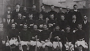 Cork (Blackrock) All-Ireland Hurling Champions 1902. Back Row: J Leahy, J Morley, J Kidney, J Desmond, W Mackessy, J Kelleher, D Buckley, C E Murphy, D Meagher. Middle Row: P Coughlan, J Coughlan, P O'Sullivan, D McGrath, W Hennessy, W O'Neill, J McCarthy (referee), P Twohig. Front Row: W Parfry, Larry Flaherty, J O'Leary, T Coughlan, S Riordan (capt), D O'Keeffe, A Buckley, M O'Leary.
