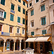 Square with Venetian Well,  Corfu Old Town, Greek Ionian Islands