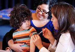 Several hundred people came to a free community clinic to receive H1N1 flu vaccinations at Touro University on Mare Island.  The event, conducted collaboration with Solano County Public Health Department, administered the vaccine to  individuals in the CDC high priority groups.
