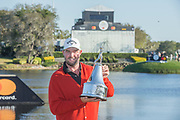 Arnold Palmer Invitational Champion 2017 Marc Leishman after the Final Round of the The Arnold Palmer Invitational Championship 2017, Bay Hill, Orlando,  Florida, USA. 19/03/2017.<br /> Picture: PLPA/ Mark Davison<br /> <br /> <br /> All photo usage must carry mandatory copyright credit (© PLPA | Mark Davison)
