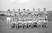 All Ireland Senior Football Championship Final, Kerry v Down, 22.09.1968, 09.22.1968, 22nd September 1968, Down 2-12 Kerry 1-13, Referee M Loftus (Mayo)..The Kerry Team ,.Back row (from left) Eamon O'Donoghhue, Sean Burrows, Mick Morris, Mick O'Dwyer, Johnny Culloty, Paud O'Donoghue, D J Crowley, Mick Fleming. Front row (from left) Seamus Murphy, Mick O'Connell, Tom Prendergast, Pat Griffin (capt), Denis O'Sullivan, Brendan Lynch, Donie O'Sullivan,