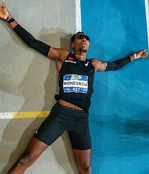 Liemarvin Bonevacia after the 400 meter during AA Drink Dutch Athletics Championship Indoor on 21 February 2021 in Apeldoorn.