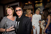 ROBERT CAVALLI AND DIANA JENKINS, The Launch of the Cavalli Selection. 17 Berkeley St. London. 29 May 2008.   *** Local Caption *** -DO NOT ARCHIVE-© Copyright Photograph by Dafydd Jones. 248 Clapham Rd. London SW9 0PZ. Tel 0207 820 0771. www.dafjones.com.