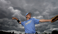 Kevin Bartram | Staff<br /> Storm clouds move in over a baseball game in Bristol.
