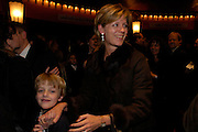 hon Mrs. James Ogilvy and Alexander, Mary Poppins Gala charity night  in aid of Over the Wall. Prince Edward Theatre. 14 December 2004. ONE TIME USE ONLY - DO NOT ARCHIVE  © Copyright Photograph by Dafydd Jones 66 Stockwell Park Rd. London SW9 0DA Tel 020 7733 0108 www.dafjones.com
