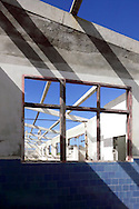 Hurricane damaged fish processing plant in Gibara, Holguin, Cuba.