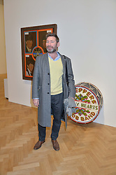 MAT COLLISHAW at the opening private view of 'A Strong Sweet Smell of Incense - A portrait of Robert Fraser, held at the Pace Gallery, Burlington Gardens, London on 5th February 2015.