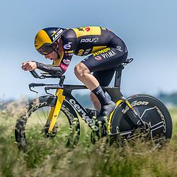 EMMEN (NED) June 16: <br />CYCLING <br />Dutch Nationals Time Trail men U23 Axel van der Tuuk