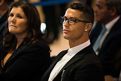 Cristiano Ronaldo and his mother Maria Dolores dos Santos Aveiro during the renews of Cristiano Ronaldo's contract with Real Madrid until 2021 at Santiago Bernabeu Stadium in Madrid, Spain, on November 07, 2016. Photo by Borja B.Hojas/AlterPhotos/ABACAPRESS.COM