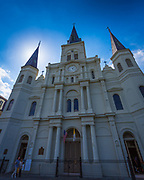 Saint Louis Cathedral, also known as the Basilica of St. Louis, King of France, is the seat of the Roman Catholic Archdiocese of New Orleans; it has the distinction of being the oldest continuously operating cathedral in the (as now constituted) United States.[citation needed] The first church on the site was built in 1718; the third, built in 1789, was raised to cathedral rank in 1793. The cathedral was expanded and largely rebuilt in 1850, with little of the 1789 structure remaining.