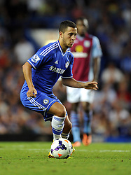 "Chelsea's Eden Hazard  - Photo mandatory by-line: Joe Meredith/JMP - Tel: Mobile: 07966 386802 21/08/2013 - SPORT - FOOTBALL - Stamford Bridge - London - Chelsea V Aston Villa - Barclays Premier League - EDITORIAL USE ONLY. No use with unauthorised audio, video, data, fixture lists, club/league logos or ""live"" services. Online in-match use limited to 45 images, no video emulation. No use in betting, games or single club/league/player publications"