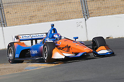 September 14, 2018 - Sonoma, CA, U.S. - SONOMA, CA - SEPTEMBER 14: Scott Dixon works his way thru the Turn 9A area during the Verizon IndyCar Series practice for the Grand Prix of Sonoma on September 14, 2018, at Sonoma Raceway in Sonoma, CA. (Photo by Larry Placido/Icon Sportswire) (Credit Image: © Larry Placido/Icon SMI via ZUMA Press)