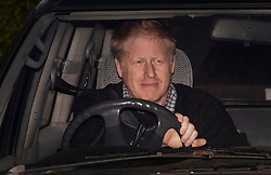 © Licensed to London News Pictures. 24/03/2019. Chequers , UK. Boris Johnson leaves Chequers after meeting with the Prime Minister. There have been reports of a cabinet revolt against Prime Minister Theresa May, over her handing of the Brexit negotiations. Photo credit: Peter Macdiarmid/LNP